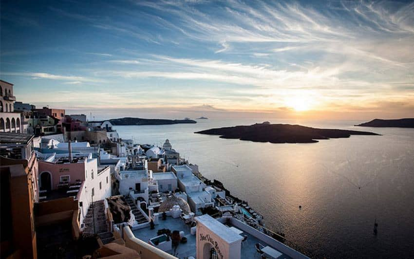 Fira Town, the Capital of Santorini