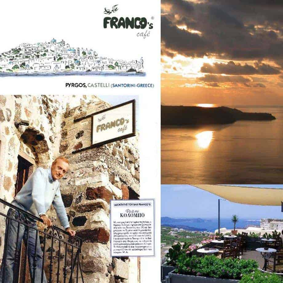 Franco's Cafe Pyrgos Santorini