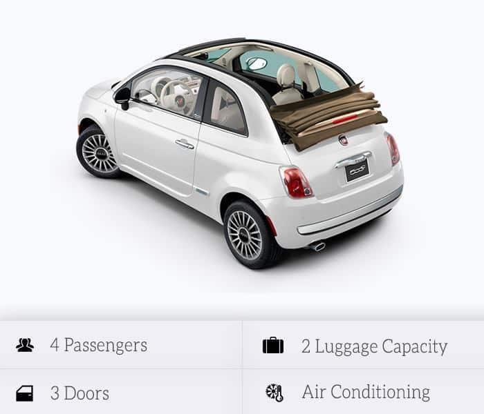 Fiat 500cc Cabrio (automatic)