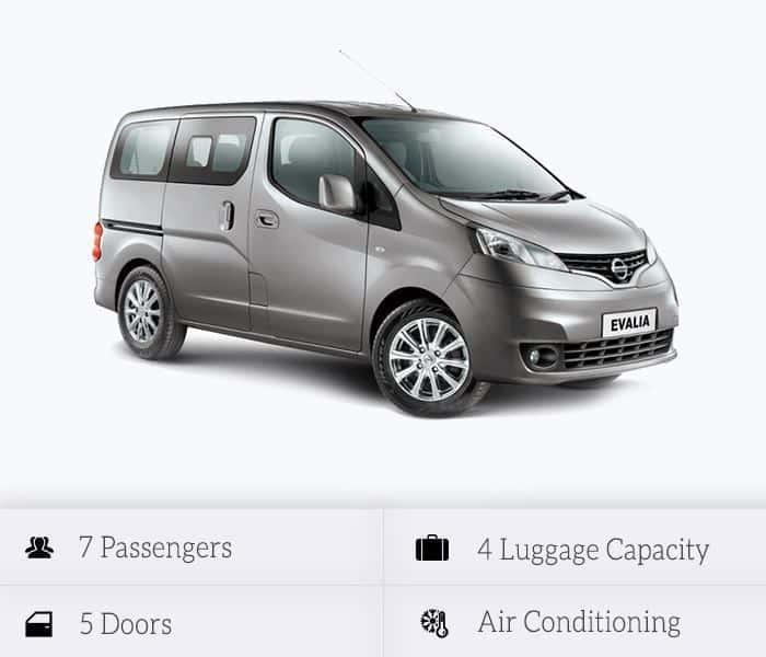 Στόλος αυτοκινήτων προς ενοικίαση: Nissan Evalia 7 seats (manual)
