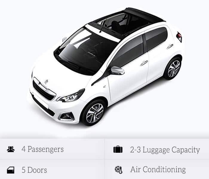 Peugeot 108 cabrio (automatic)